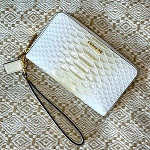 COACH Madison Reptile Embossed Leather Wallet